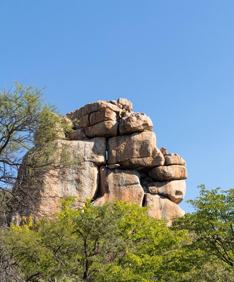 Matobo nationalpark Bulawao Zimbabwe arkivbild