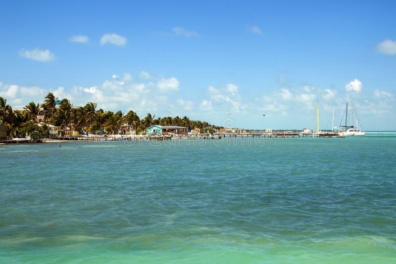 Matoir de Caye, Belize, Amérique Centrale images libres de droits