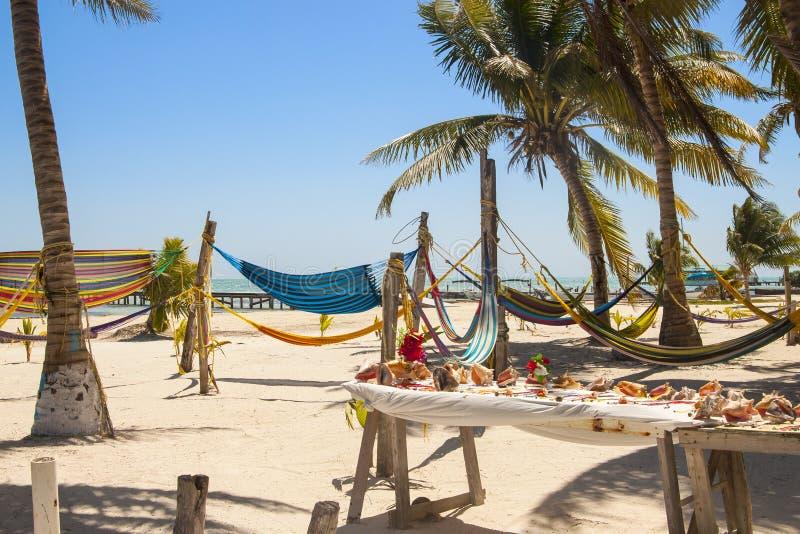 Matoir de Caye, Belize sur la barrière de corail images stock