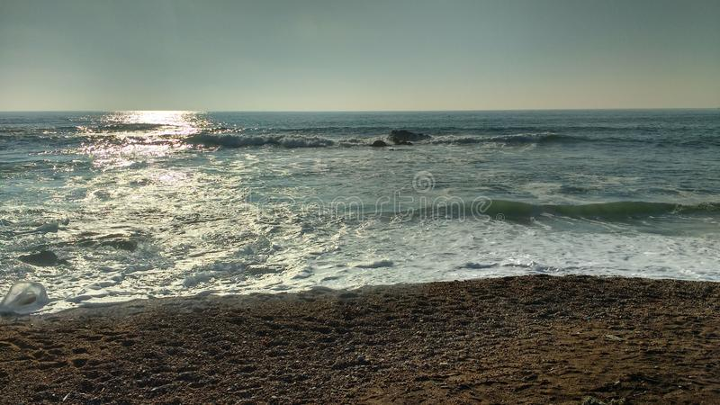 Matosinhos plaża, Portugalia zdjęcia royalty free