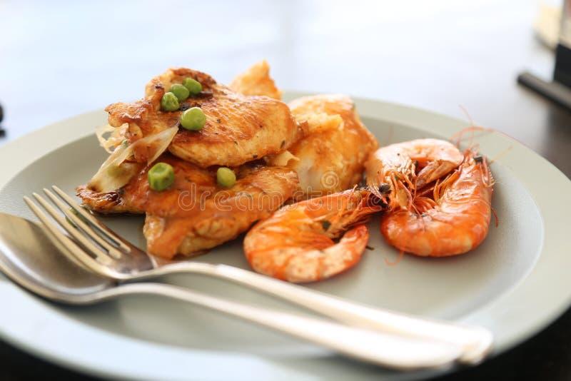 Maträtt mat, skaldjur, Fried Food