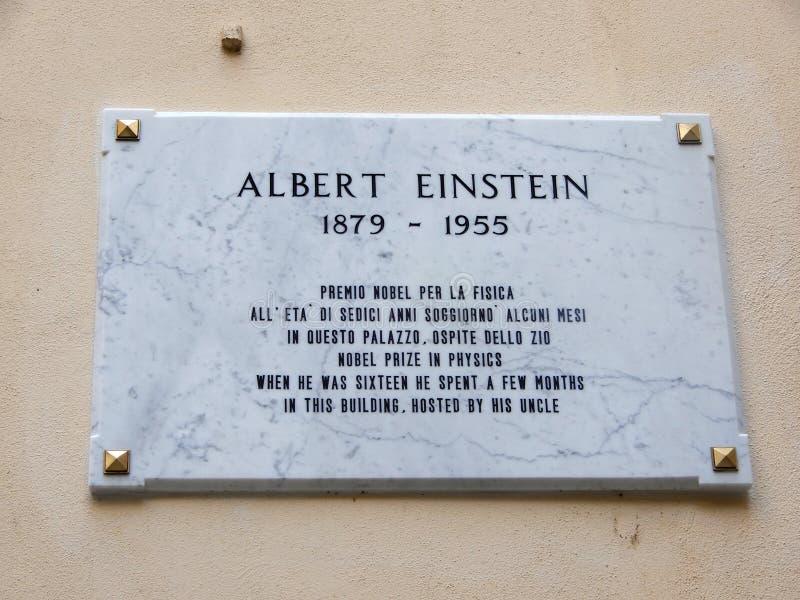 Matrícula de Albert Einstein, prêmio nobel na física Quando era o hhe dezesseis gastou algum a montagem imagem de stock