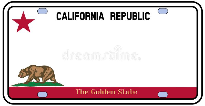 Matrícula de Califórnia ilustração do vetor