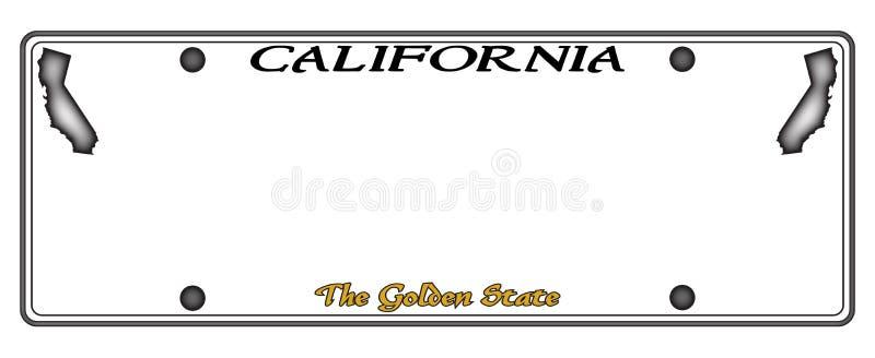 Matrícula de Califórnia ilustração royalty free