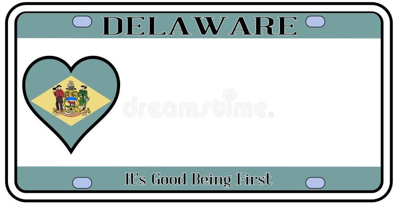 Matrícula do estado de Delaware ilustração royalty free