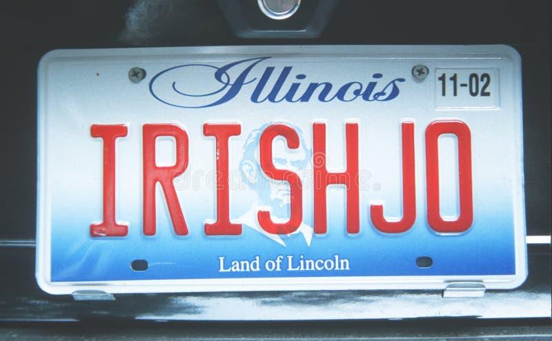 Matrícula em Illinois imagens de stock royalty free