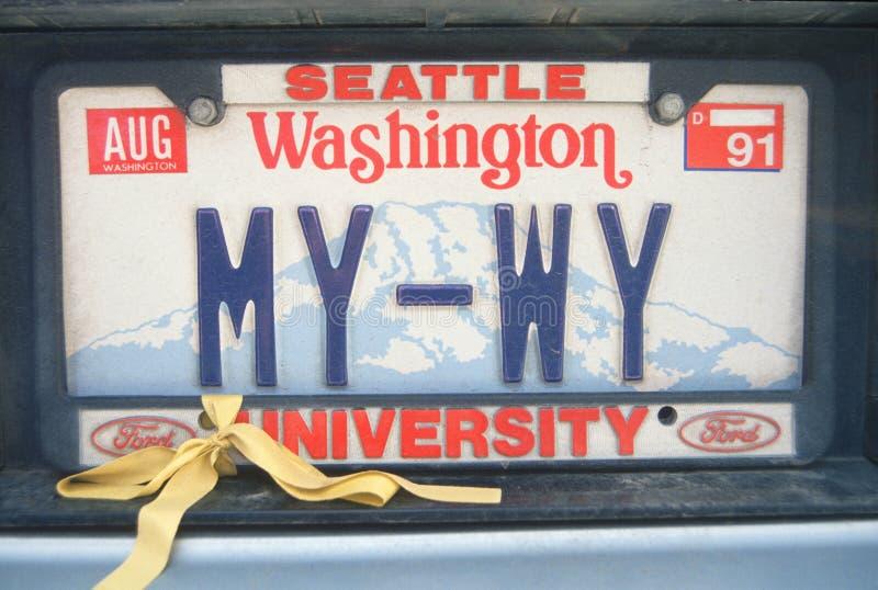 Matrícula em Washington foto de stock royalty free