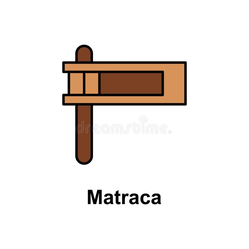 Matracapictogram Element van Cinco de Mayo-kleurenpictogram Grafisch het ontwerppictogram van de premiekwaliteit Tekens en symbol stock illustratie