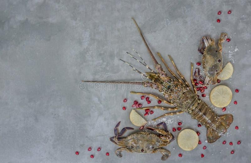 Matram med skaldjur royaltyfri foto