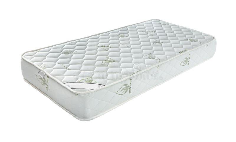 Matras die u aan goed de hele avond geïsoleerde slaap steunde stock afbeelding
