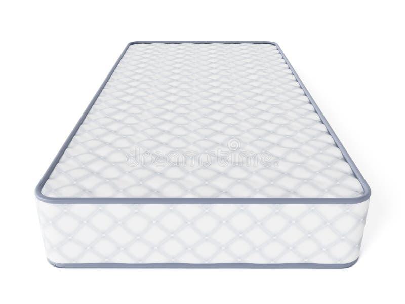 Matras op witte achtergrond 3D Illustratie stock illustratie