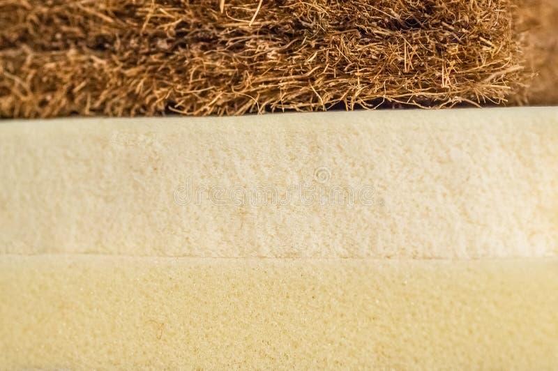 Matrasvuller Kokosnotencoir, het latexrubber van Aardparagraaf, de onafhankelijke lente van het geheugenschuim royalty-vrije stock afbeelding