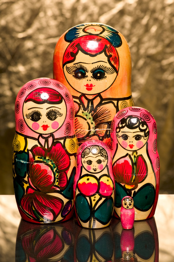 matreshka obraz stock
