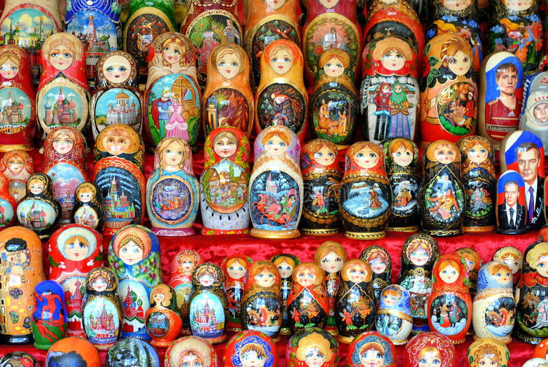 Download Matreshka dolls stock image. Image of square, object - 26813157