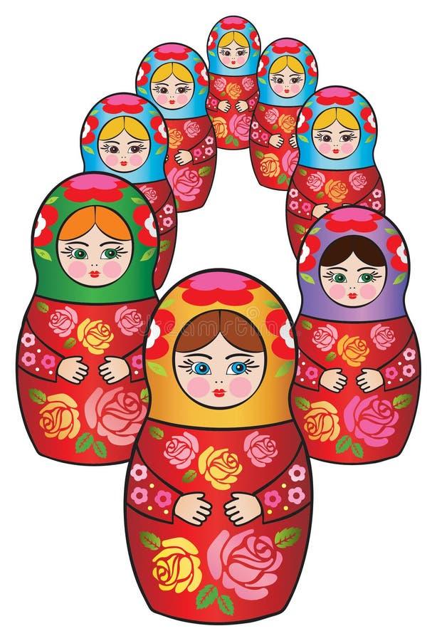 matreshkaryss stock illustrationer