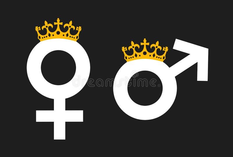 Matriarcat et patriarcat illustration stock