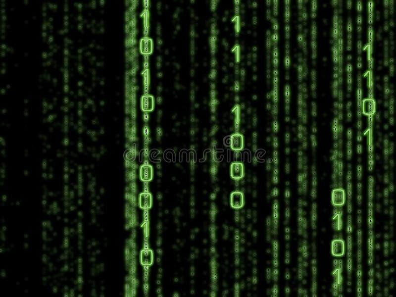 Matrice binaire illustration de vecteur