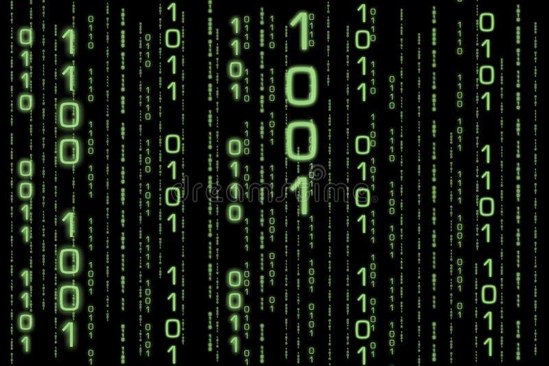 Matrice binaire II illustration libre de droits