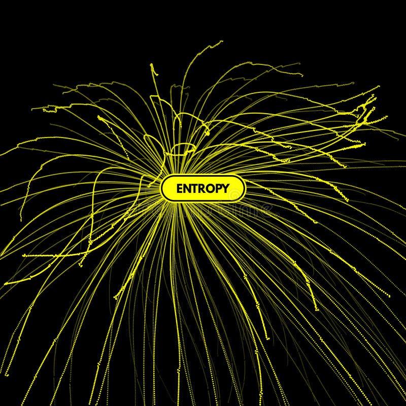 Matrice con le particelle dinamiche stile futuristico di tecnologia 3d sottragga la priorità bassa illustrazione vettoriale