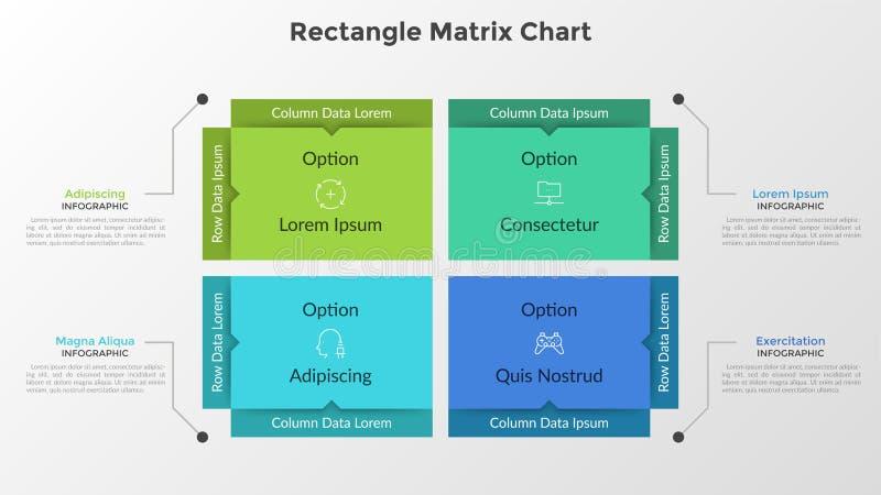 Matrice de rectangle infographic illustration stock
