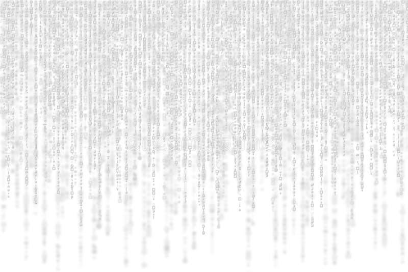 Matrice grigia con ombra su fondo bianco illustrazione di stock