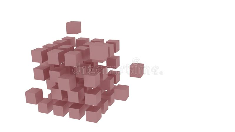 Matrice rossa dei cubi illustrazione vettoriale