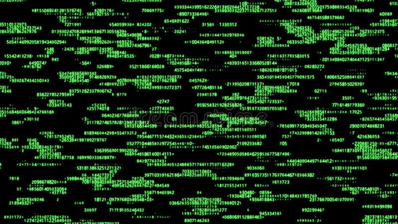 Matrice verte de fond de Digital Code machine binaire Concept de pirate informatique rendu 3d illustration stock