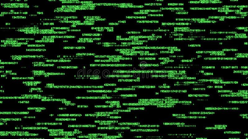Matrice verte de fond de Digital Code machine binaire Concept de pirate informatique rendu 3d illustration de vecteur
