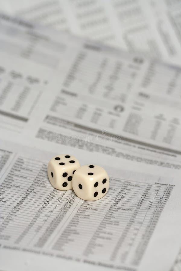 Matrices dans les finances I photographie stock