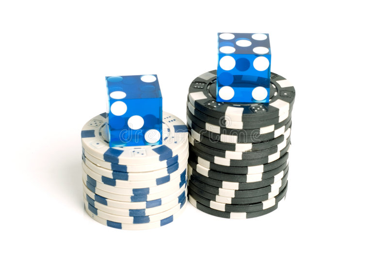 Matrices de casino images stock