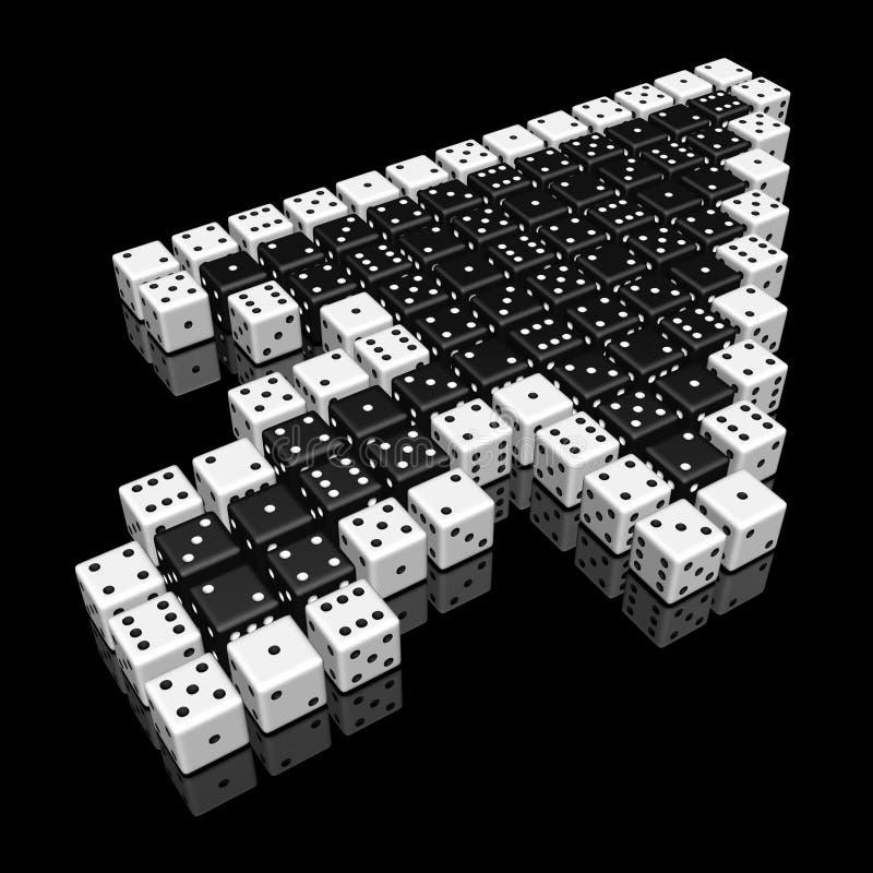 matrices de curseur illustration stock