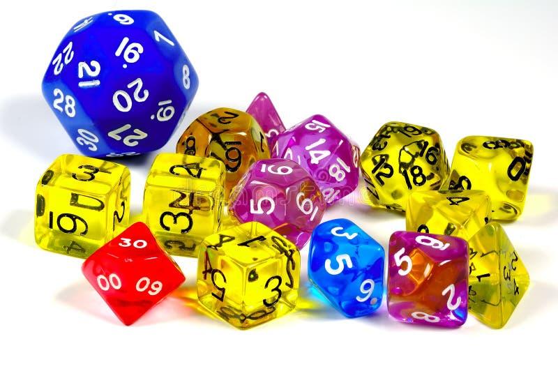 Matrices de jeu photographie stock