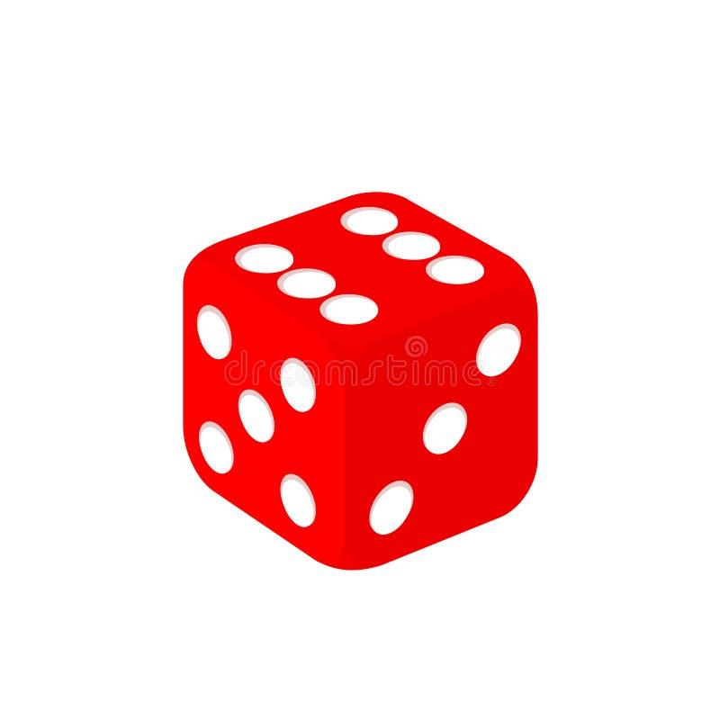Matrices de jeu de casino rouge - conception simple de vecteur illustration libre de droits