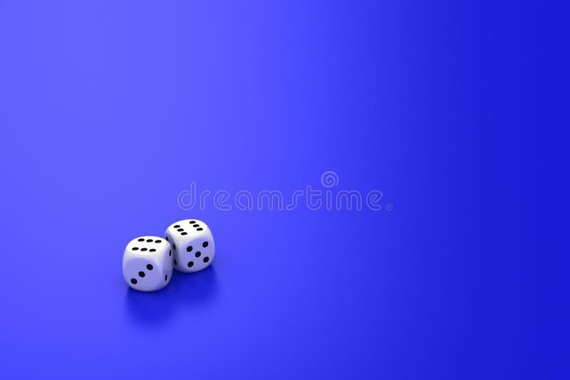 Matrices sur le bleu illustration stock