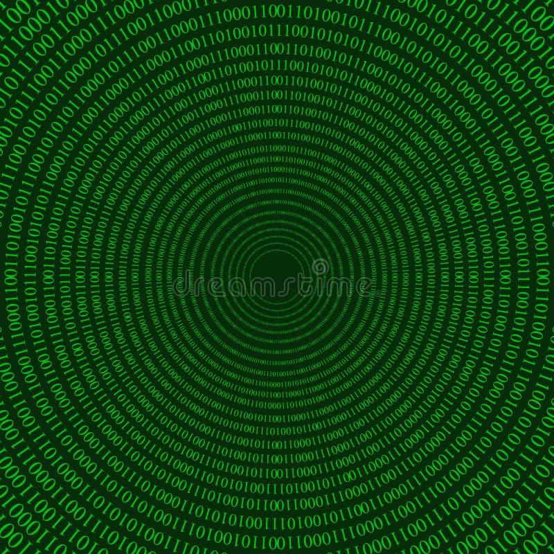 Matrijs cirkelpatroon vector illustratie