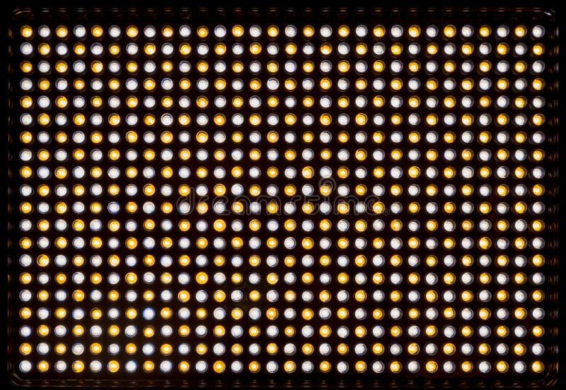 Matrijs geleide verlichtingsinrichting 600 witte en gele dioden om licht met veranderlijke kleurentemperatuur 3200-5500K tot stan stock afbeeldingen