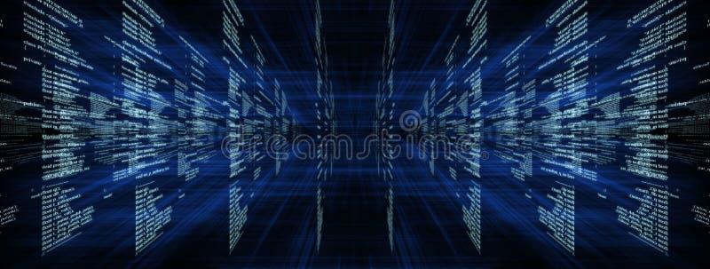 Matrijs op blauw met stralen royalty-vrije stock afbeelding