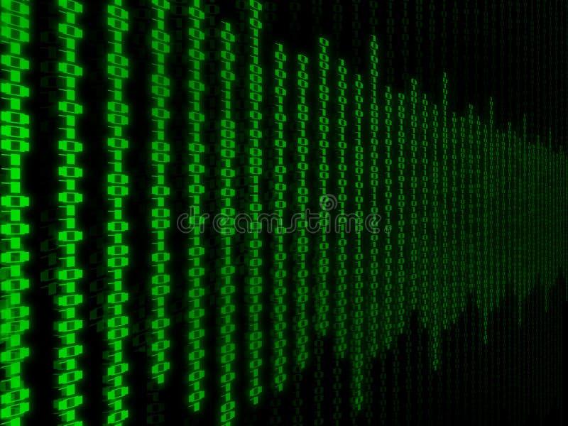 Matrijsbinair getal stock afbeelding