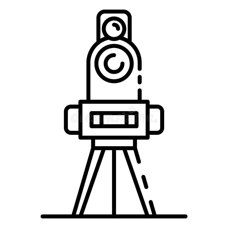 Matrikel- utrustningsymbol, översiktsstil vektor illustrationer