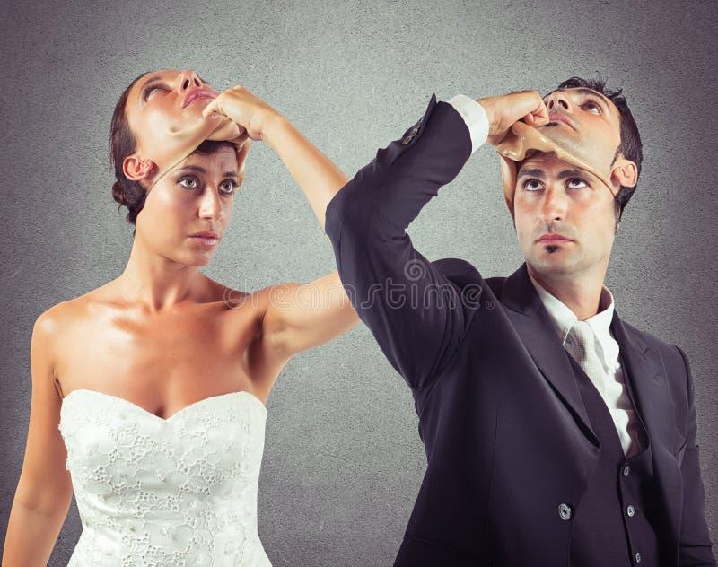 Matrimonio del bugiardo fotografie stock