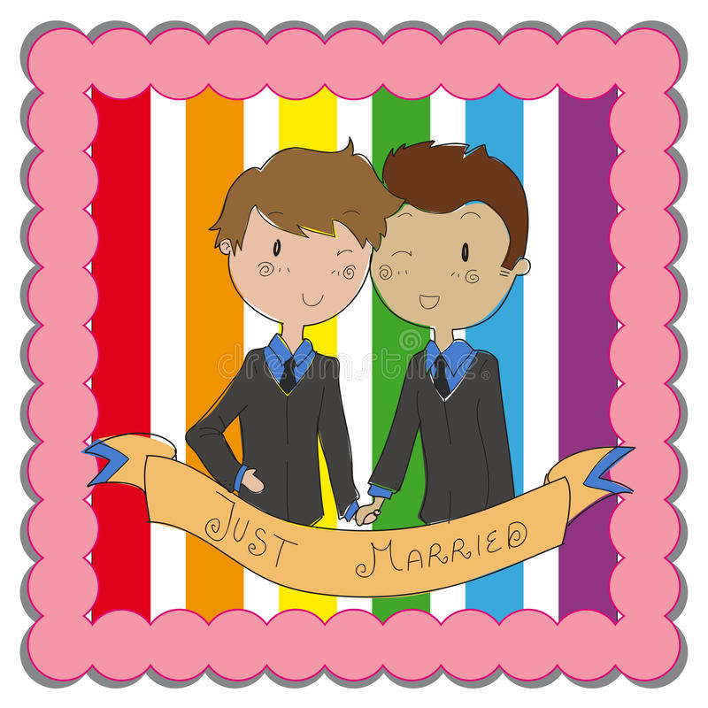 Matrimonio gay royalty illustrazione gratis
