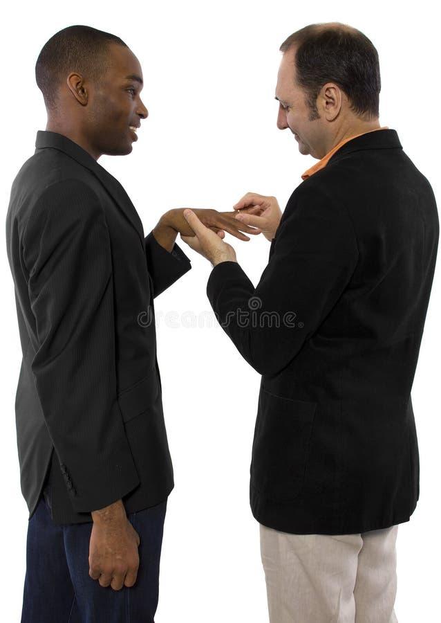 Matrimonio homosexual imagen de archivo libre de regalías