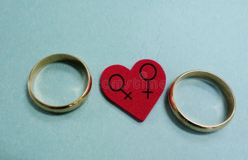 Matrimonio homosexual foto de archivo