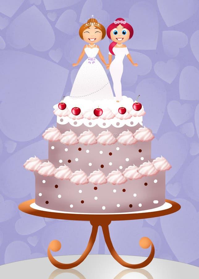 Matrimonio homosexual ilustración del vector