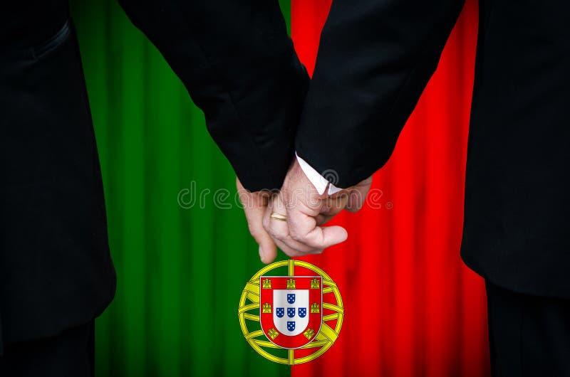 Matrimonio homosexual en Portugal fotografía de archivo libre de regalías