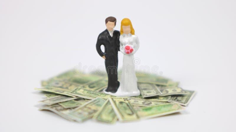 Matrimonio y dinero, versión B fotografía de archivo libre de regalías