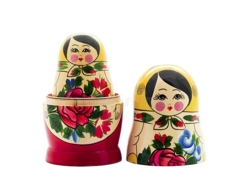 Matrioshka. Doll isolated on white royalty free stock images