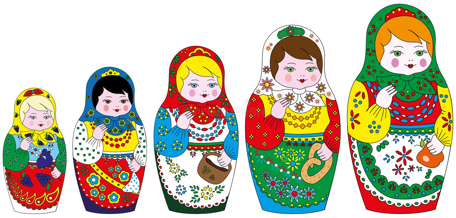 Download Matrioshka stock vector. Image of gift, collection, doll - 26521054
