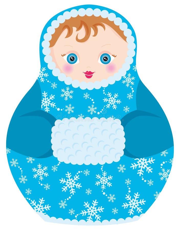 Matrioshka doll. Illustration of matrioshka, simbol of russia vector illustration