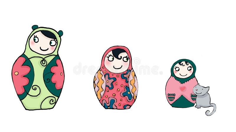 matrioshka funnies кукол бесплатная иллюстрация